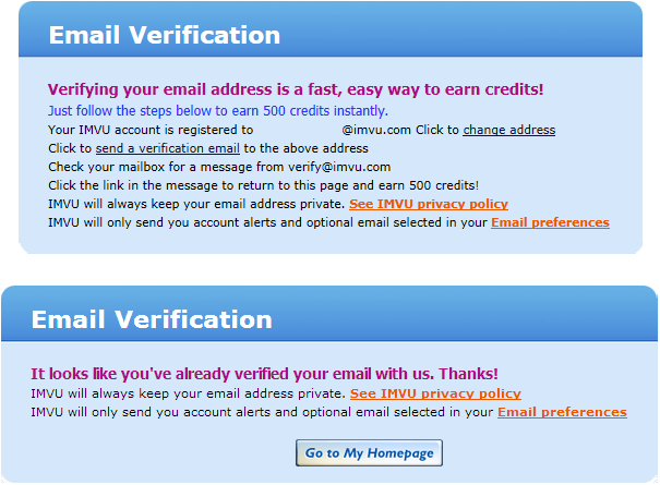 Verify Purchase - Message Sent